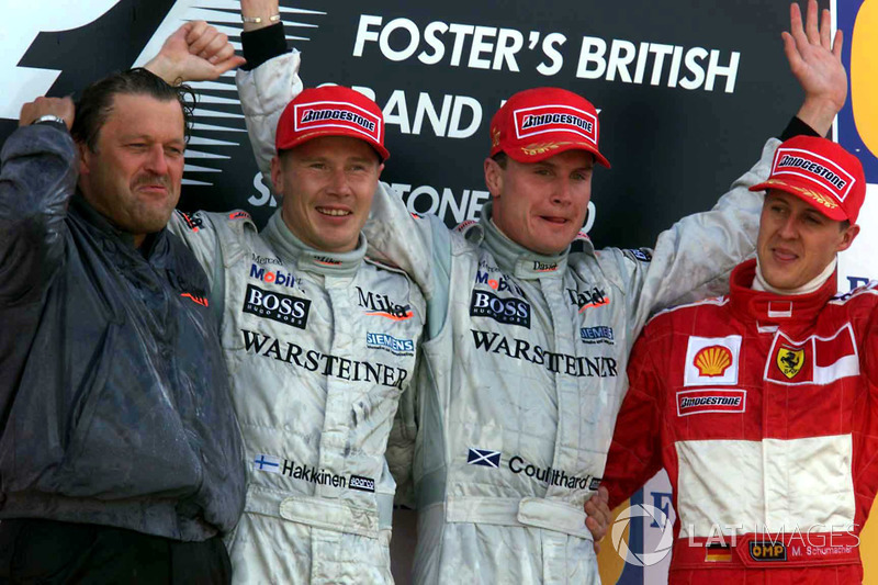 2000: 1. David Coulthard, 2. Mika Häkkinen, 3. Michael Schumacher