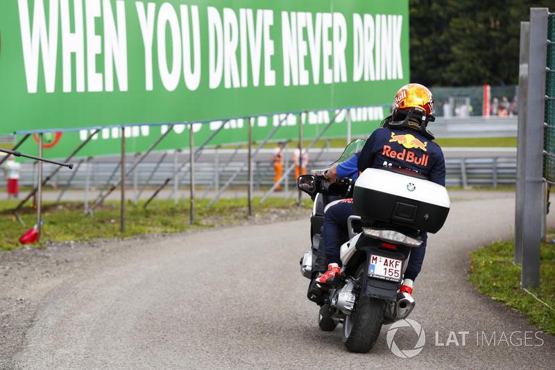 Макс Ферстаппен, Red Bull Racing, після сходу з дистанції