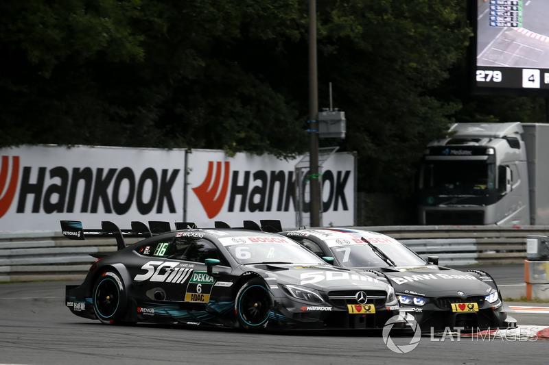 Robert Wickens, Mercedes-AMG Team HWA, Mercedes-AMG C63 DTM, Bruno Spengler, BMW Team RBM, BMW M4 DT