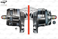 McLaren MP4/26 asymmetric front brakes