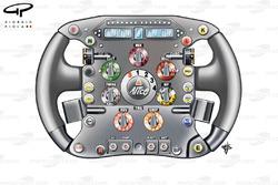Ferrari F60 (660) 2009 Massa steering wheel