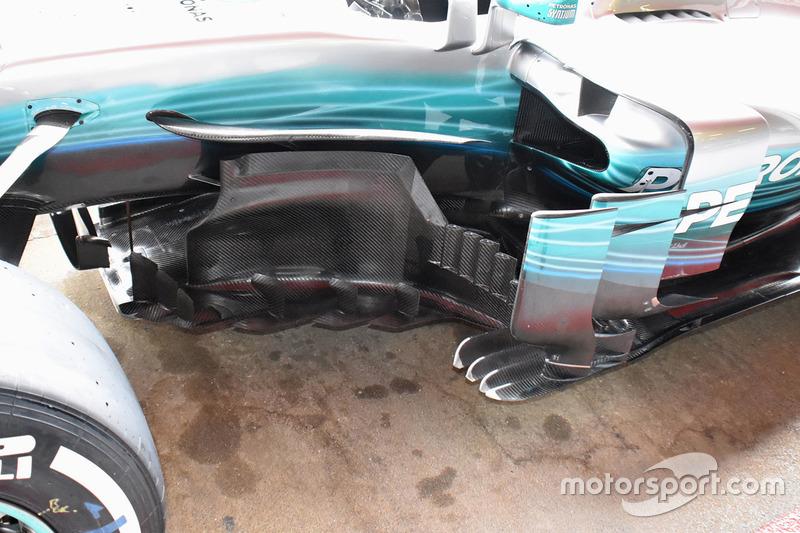 Detail samping Mercedes AMG F1 W08
