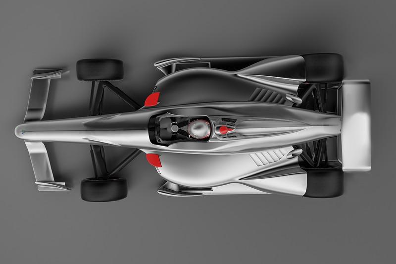 Рендер машини IndyCar 2018 року