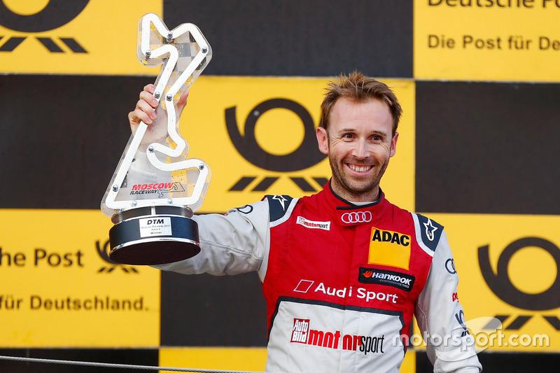 Подіум: переможець Рене Раст, Audi Sport Team Rosberg, Audi RS 5 DTM