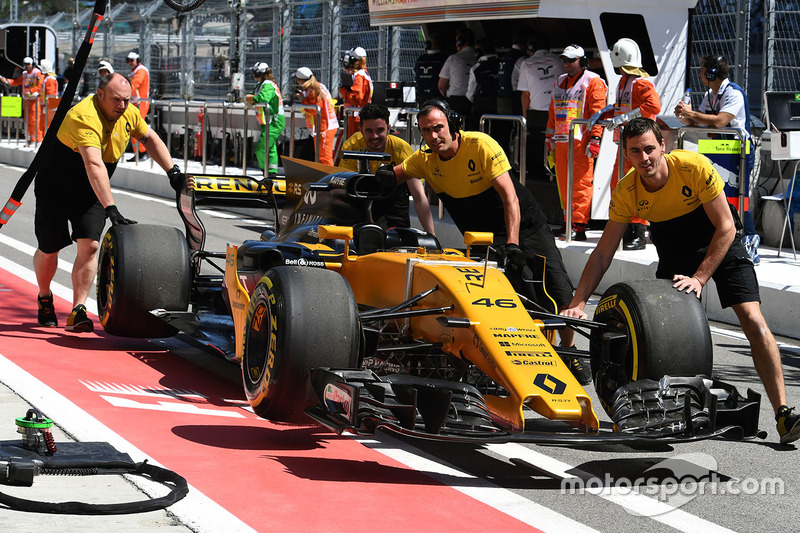Car of Sergey Sirotkin, Renault Sport F1 Team RS17