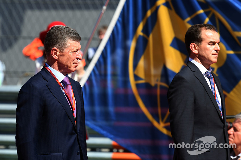 Dmitry Kozak, Deputy Prime Minister of the Russian Federation, Veniamin Kondrytyev, Governor of Krasnodar Region