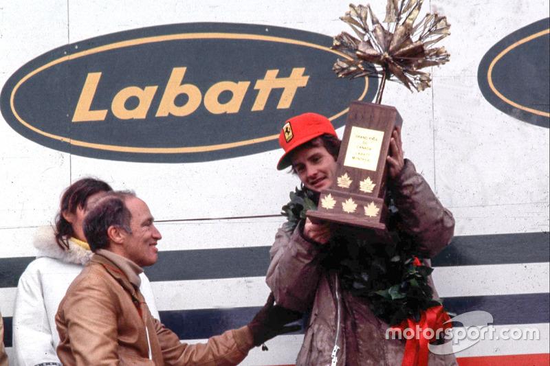 Podium: Pemenang balapan, Gilles Villeneuve, Ferrari; Perdana Menteri Kanada, Pierre Elliot Trudeau