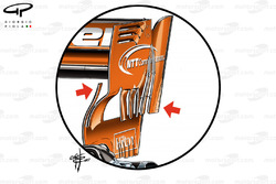 McLaren MCL32, rear wing at Bahrain GP