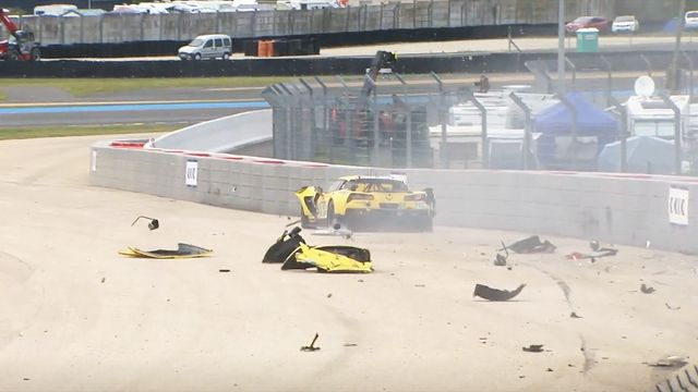 Brutto incidente per la Corvette #64