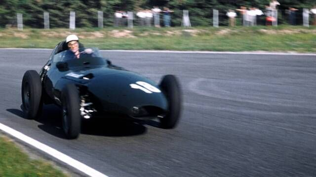 Sir Stirling Moss takes a surprise victory with Vanwall in 1957