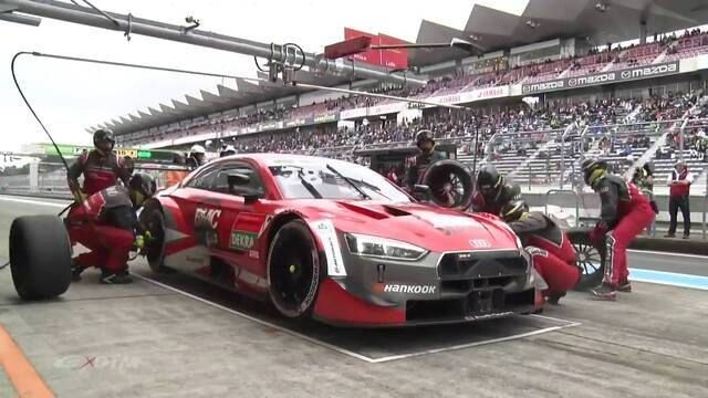 SUPER GT x DTM Dream Race 2: Loic Duval puncture