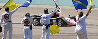 Grand-Am Jeff Clinton's co-drivers take tribute laps at Homestead