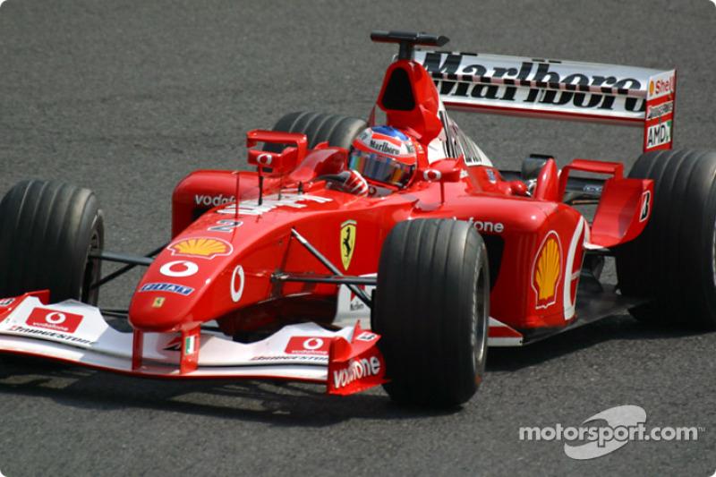 Barrichello happy with F2002 for Brazil