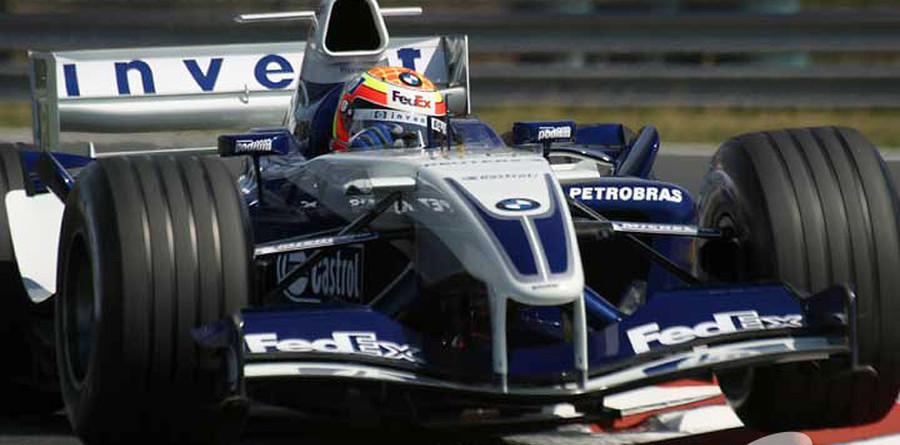 Pizzonia tops testing, Schumacher crashes