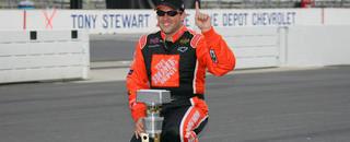 NASCAR Cup Stewart kisses the bricks
