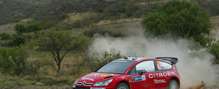 WRC Loeb catches Rally Mexico lead as Subaru stumbles