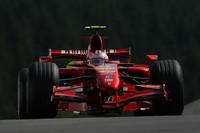 Raikkonen heads Ferrari front row for Belgian GP