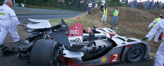 Le Mans Audi's #2 bullet destroyed at seven-hour mark