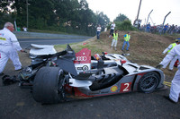 Audi's #2 bullet destroyed at seven-hour mark