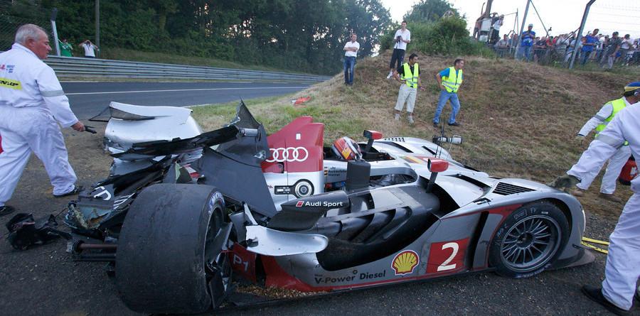 Audi's #2 bullet destroyed at seven-hour mark