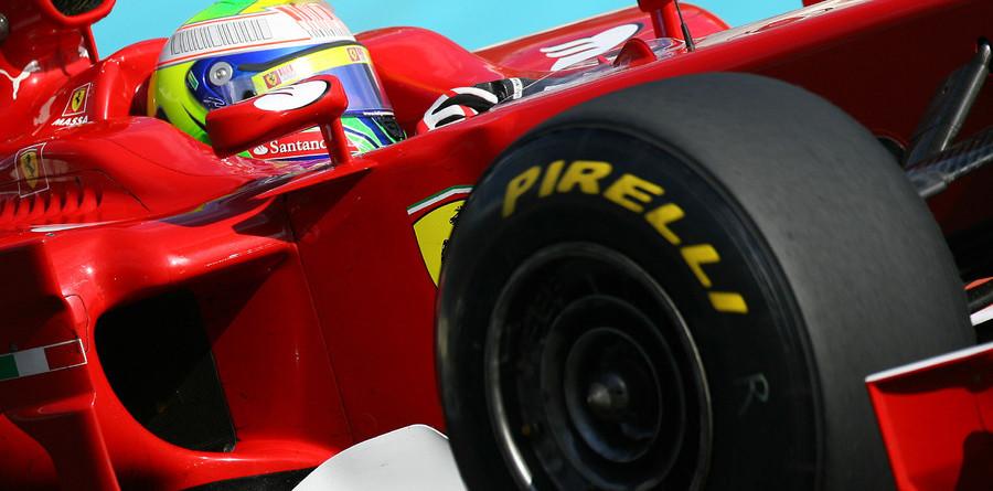 Massa fastest in Pirelli initial testing