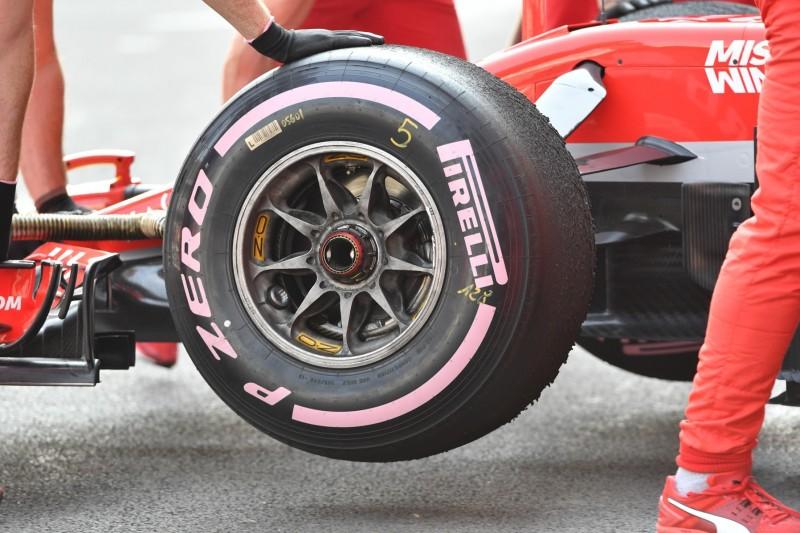 Wie die Pirelli-Reifensorten beim Formel-1-Test zu erkennen sind