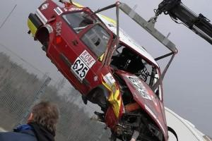 Horrorcrash im Brünnchen: VW Jetta überschlägt sich sechsmal