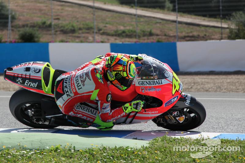 Valentino Rossi tests Ducati GP12 at Mugello