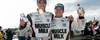 ALMS Muscle Milk AMR Celebrates ALMS Overall Win At Mosport