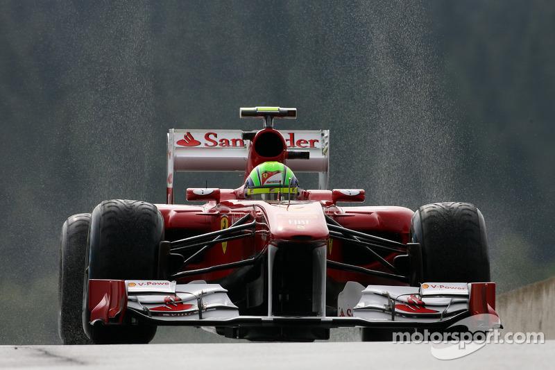Ferrari feature - A busy day in the rain