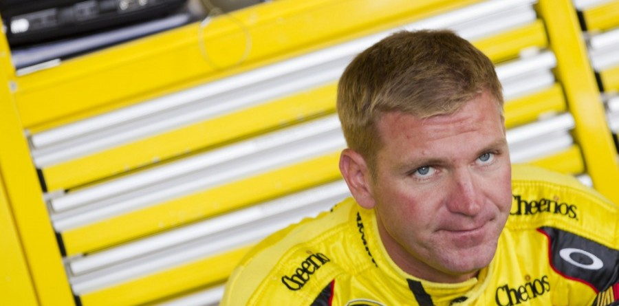 Bowyer visits with the media at Richmond
