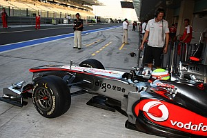 Formula 1 McLaren Abu Dhabi young driver test Tuesday report