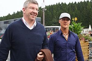 Formula 1 Brawn to consider 2013 with Schumacher mid next year