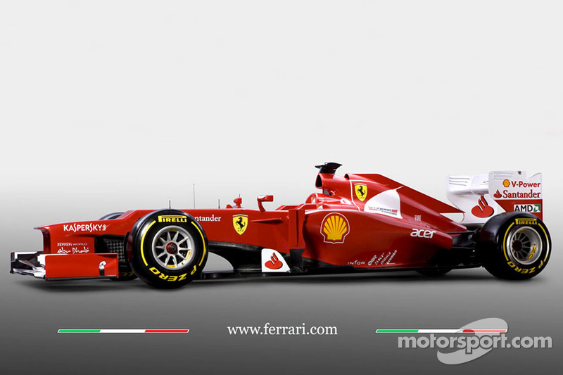 Despite the snow, Ferrari shows off new F2012