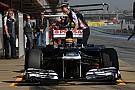 Williams Barcelona test II -  Day 1 report
