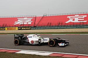 Formula 1 Sauber Chinese GP - Shanghai qualifying report