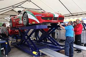 Le Mans AF Corse Ferrari teams ready for the 24 hour challenge