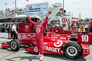 IndyCar Qualifying report Franchitti steals Honda Indy Toronto pole away from Power