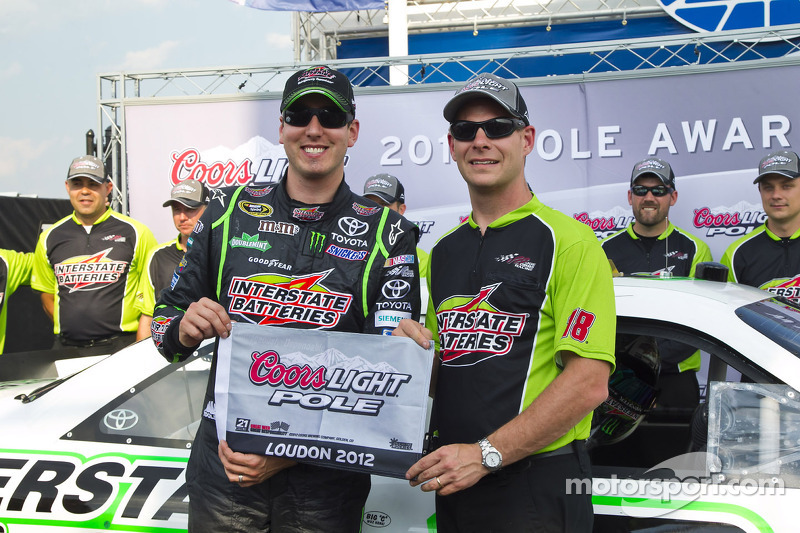 Kyle Busch thought he missed pole on Loudon qualifying lap