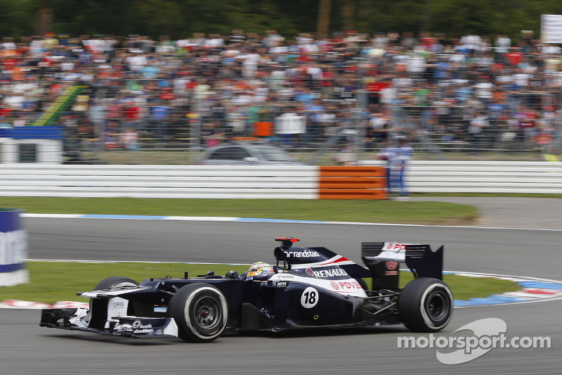 Williams drivers had a difficult day at the German GP