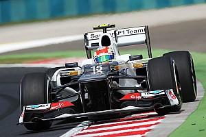 Formula 1 Practice report Neithr Kobayashi nor Perez with their Sauber setup at Hungaroring