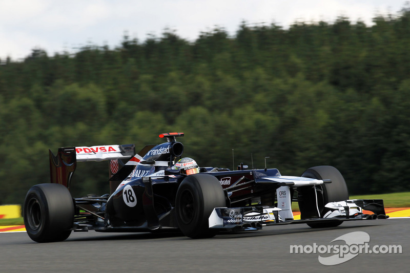After penalty Maldonado start in 6th place on Belgian GP