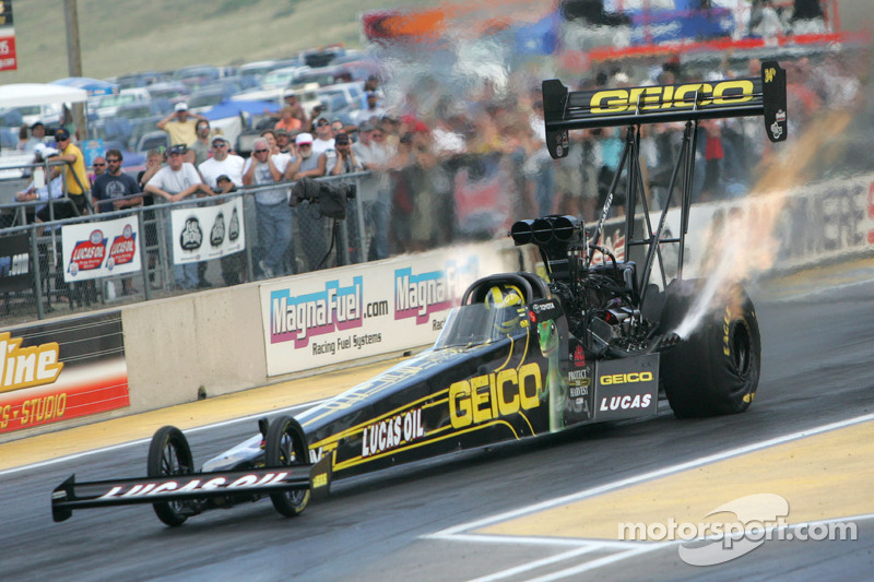 So far, so good for Top Fuel driver Lucas as he heads to Dallas