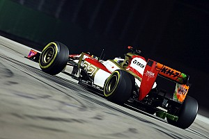 Formula 1 Practice report HRT tested an aero upgrade for Singapore GP