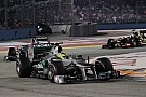 Rosberg is 5th and Schumacher retired from race in Singapore