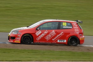 BTCC Race report AmDTuning.com shine in Rockingham gloom