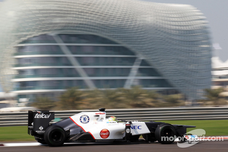 Frijns covered 78 laps at the Yas Marina Circuit driving a Sauber F1 car