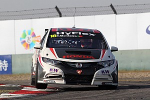 WTCC Qualifying report Tiago Monteiro 3rd and 5th in Macau qualifying