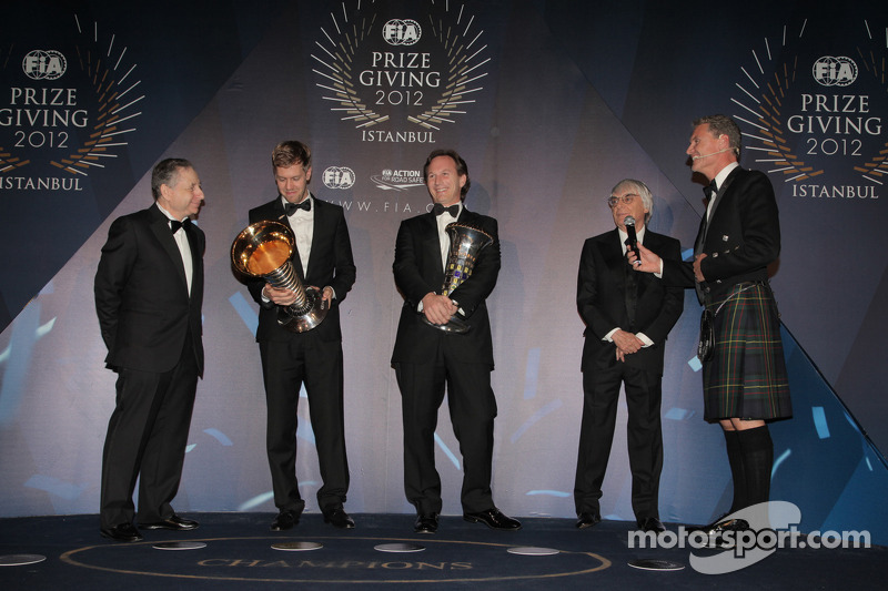 World Champion Vettel and Red Bull  receive 2012 rewards in Istanbul