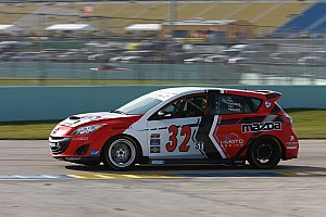 Grand-Am Breaking news Team i-MOTO Mazda re-signs Taylor Hacquard for SCC 2013 Season